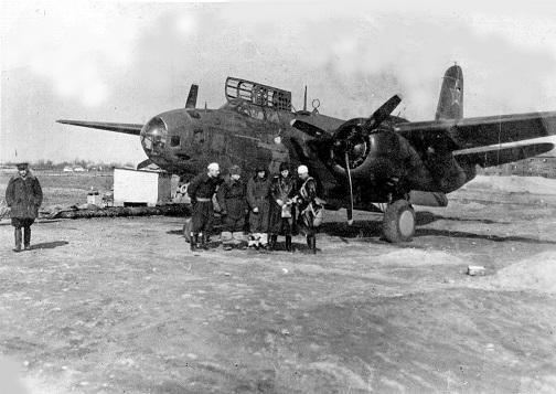 Название: бомбардировщик А-20 БОСТОН ВВС Красной Армии на полев.jpg Просмотров: 371  Размер: 85.8 Кб